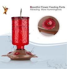 🐦BOLITE 18005 Hummingbird Glass Feeders, 5 Stations, 22 Ounces, Red Bottle🐦