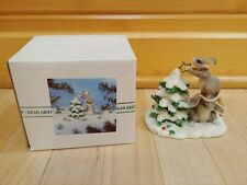 """Charming Tails """"Teamwork Helps"""" by Dean Griff Christmas Tree Figurine Silvestri"""