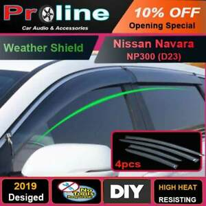 Proline Nissan Navara Np300 D23 Weathershields Window Visors Weather Shields