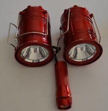 3 pcs Portable Collapsible LED Camping Lanterns  Hiking Night Light Flashlight