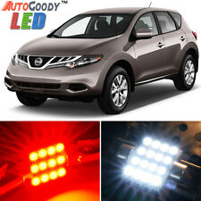 16 x Premium Red LED Lights Interior Package Kit for Nissan Murano 2009-2014