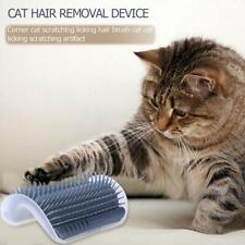 Removable Cat Corner Scratching Rubbing Brush Pet Hair Removal Massage Cleaner