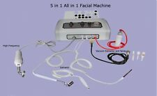 Table Top 5 in 1 Facial Machine Skin Care Equipment High Frequency All in 1