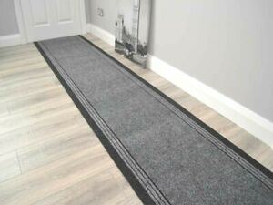 Grey Rubber Back Kitchen Mats Long Hallway Rug Heavy Duty Hall Runner Anti Slip