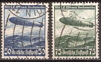 DR Nazi 3rd Reich Rare WWII Stamp Air Mail Zeppelin 129 over America Swastika