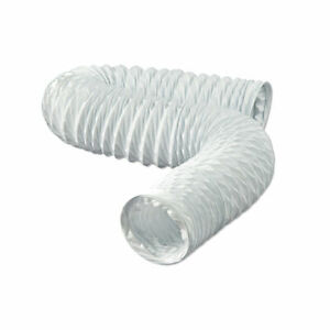 "FD450E 4"" x 50 ft. Vinyl Flexible White Fan Vent Duct Dundas Jafine"