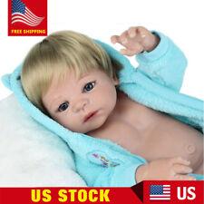 """22""""Handmade Reborn Dolls Full Vinyl Silicone Baby Boy Realistic Newborn washable"""