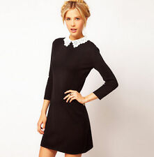 Unbranded Plus Size Collared 3/4 Sleeve Dresses for Women