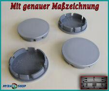 4x Flat Hub Caps Wheel Hubs 2 3/8in Hubcap WHEELCAP in Grey NEW