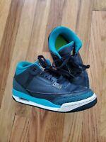 Jordan Nike Kids Aor 3 Retro Basketball Shoe Size 5Y US Black/Teal/White