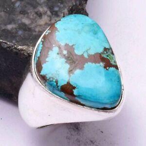Turquoise Ethnic Handmade Men's Ring Jewelry US Size-8 AR 42486