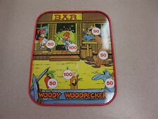 1983 WALTER LANTZ PRODUCTIONS WOODY WOODPECKER TIN GAME/WITH BULLS EYE GAME