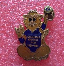 Pins LIONS CLUB Lioness CALIFORNIA DISTRICT 4-A1 1980-1981 International