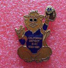 Pins LIONS CLUB Lioness CALIFORNIA DISTRICT 4-A1 1980-1981 International