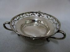 ANTIQUE STERLING SILVER FOOTED BON BON DISH BOWL COMPORT BIRMINGHAM 1911 W.NEALE