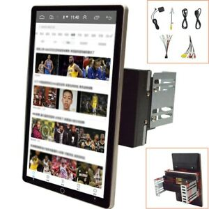 10.1'' 2DIN Rotatable Android 9.1 Touch Screen Quad Car Stereo Radio GPS Wifi