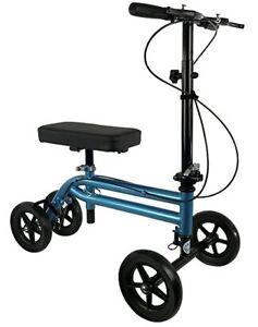 NEW KneeRover Economy Knee Scooter Steerable Knee Walker Metallic Blue