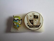 lotto 2 pins lot PORT VALE FC club spilla football calcio badge spille