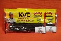 "STRIKE KING KVD Magnum Caffeine Shad (7"")(2 pks) #MCS7-46 Green Pumpkin"