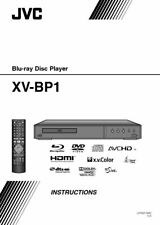 Jvc Xv-Bp1 Dvd Player Owners Instruction Manual Only Free Shipping