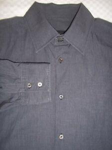 JIL Sander Gray Long Sleeves Cotton Dress or Casual Shirt 16.1/2 x 30-31