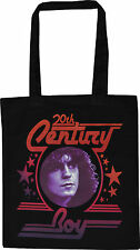 MARC BOLAN BLACK COTTON TOTE SHOPPER BAG 20TH CENTURY BOY GLAM ROCK T-REX STAR