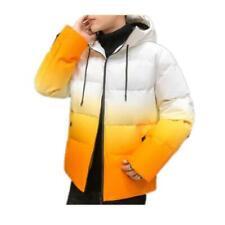 Men's Hooded Jacket Puffer Thicken Cotton Overcoat Outwear Loose Hoodies Warm  D