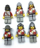 LEGO LOT OF 6 RED LION KNIGHT MINIFIGURES CASTLE KINGDOMS