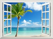 "Wall Mural - Beautiful Tropical View of Palm Tree on the Beach- 36""x48"""