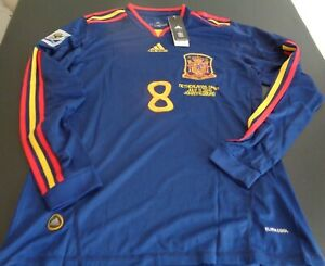 XAVI Spain ADIDAS Netherlands LARGE Soccer 2010 World Cup Jersey NEW Long Sleeve