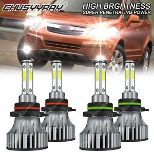 For Saturn Vue 2006 2007 - 4PC Combo 9005 9006 LED Headlight High Low Bulbs Kit