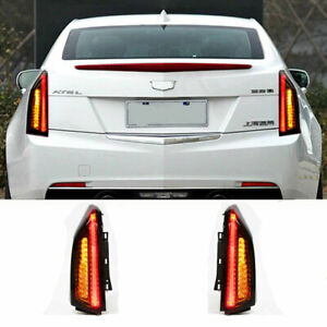 LED Taillights Assembly For Cadillac ATS Dark Replace OEM Rear lights 2014-2017