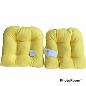 Sonoma Indoor / Outdoor Seat Cushions Water Fade Resistant Set Of 2 Yellow New