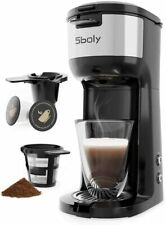 Coffee Maker Machine 5 Cup K-Cup Pod & Ground Coffee Filter Self Cleaning 2 Way