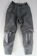IXS BLACK LEATHER BIKER TROUSERS WITH REMOVABLE CE PROTECTORS:WAIST 30/I LEG 29""