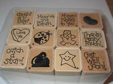 Close to my Heart Set of All Occassions Rubber Stamps, Lady Bug,Jelly Bean, Star
