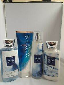 Bath and Body Works - ON THE WAVES - Mist, Lotion, Cream, Shower Gel Set RETIRED
