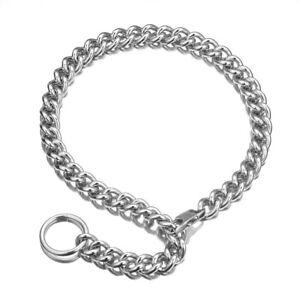 Womens Silver Stainless Steel Handmade link Chain necklace punk Choker Collar