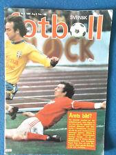 Svensk Fotboll Magazine - 1980 - Sweden FA Publication. In SWEDISH
