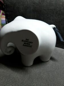 Eric the Memo Elephant White Ceramic Message Notice Board Wipe Clean + Cloth