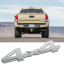 1x 4x4 Metal Logo Chrome Sporty Emblem Sticker For Car Trunk Lids Fenders Doors