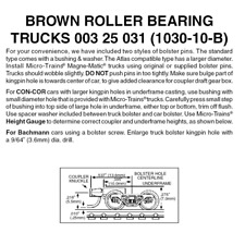 Micro-Trains 00325031 - Roller Bearing Trucks With Short Extension Couplers -...
