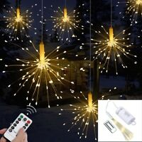 120/180 LED Remote Control Waterproof Firework Copper Wire Strip String Lights