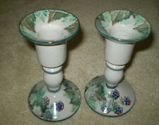 2 FABULOUS TAIN POTTERY, (SCOTLAND) CANDLE HOLDERS. MUST SEE@@@@@
