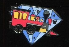 Dlr Hidden Mickey Diamond Attractions Railroad Engine Disney Pin 111947