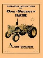 ALLIS CHALMERS 170 One Seventy Owners Operators Manual