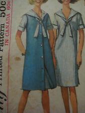 Vintage 60's Simplicity 5935 SAILOR COLLAR DRESS Sewing Pattern Women Sub-Teen
