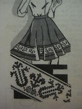 Vtg Mail Order Women Cross Stitch Apron Sew Pattern 5798