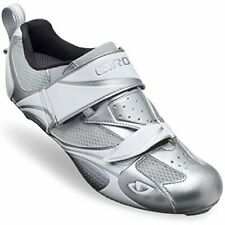 Giro Facet Chrome/White Women's Triathlon Cycling Shoes Size 8.5 EUR 40.5