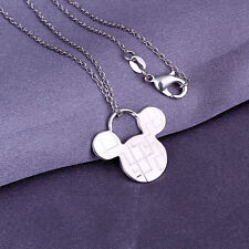 Promotion Price 925 Silver Lovely Mouse Pendant Women Men Necklace YP159